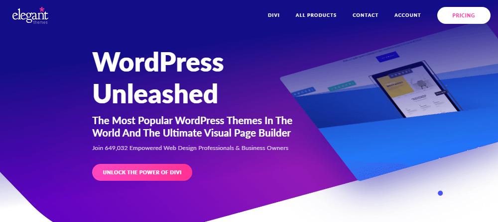 Elegant Themes site