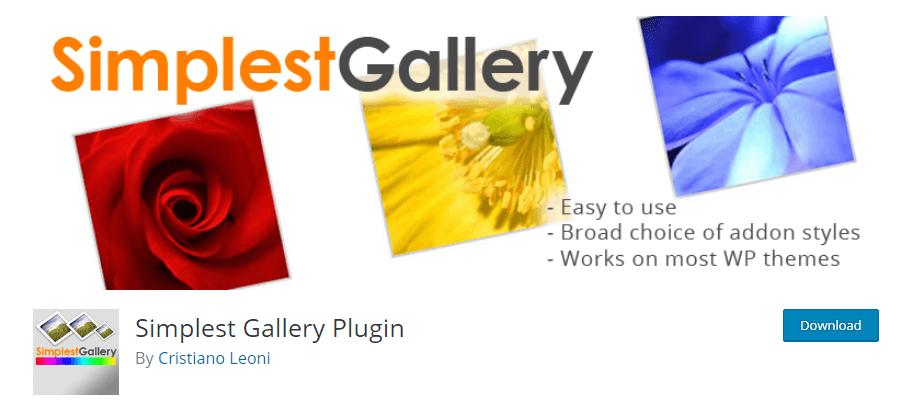 Simple Photo Gallery Plugin