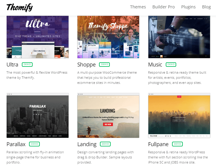 Themify WordPress themes store