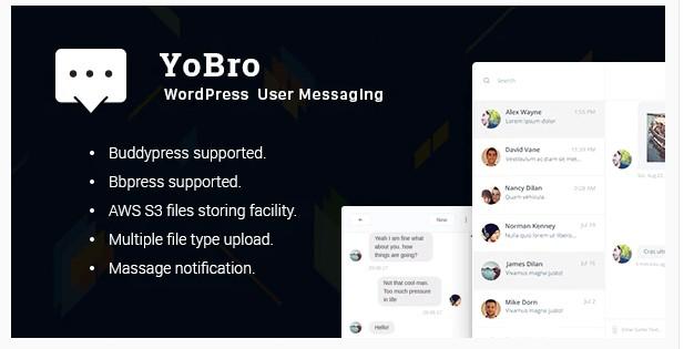 YoBro WP Private Messaging Plugin