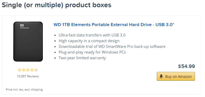 AAWP Single product demo