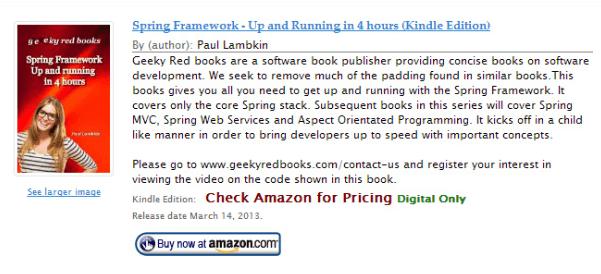 Amazon Product in a Post Plugin demo