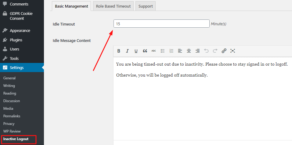 Automatically log out System