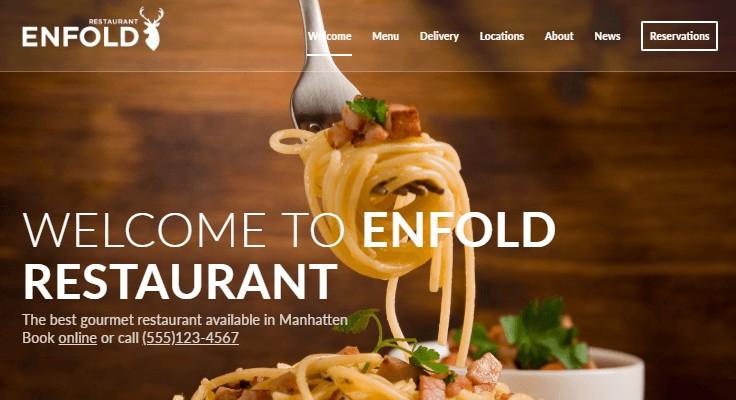 Enfold Classic Restaurant Demo