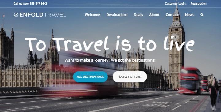 Enfold Travel Blog Demo