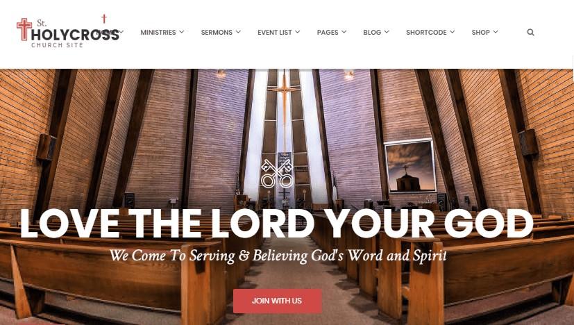 HolyCross WordPress theme