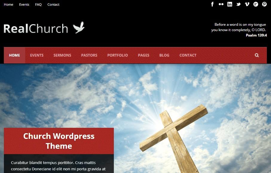 Real Church WordPress theme