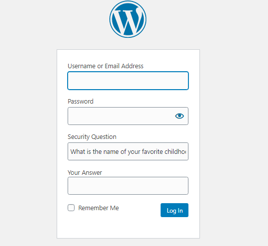 Security Questions To Login Screen