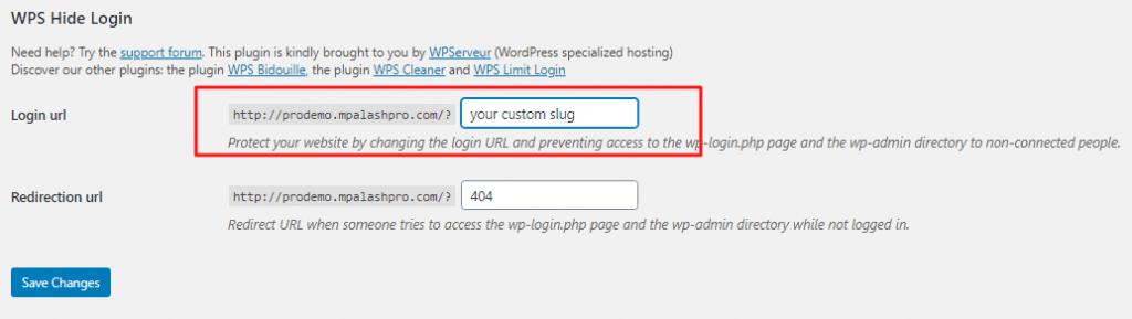 WordPress Custom Admin Login URL