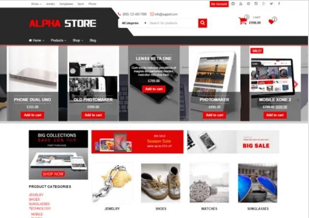 Alpha Store Theme
