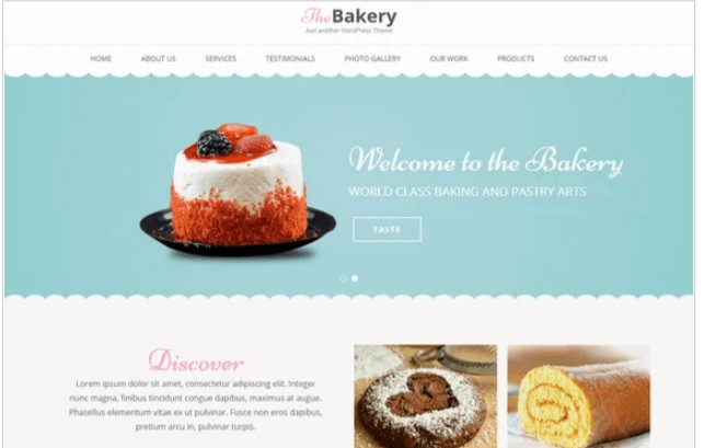 Bakes And Cakes theme