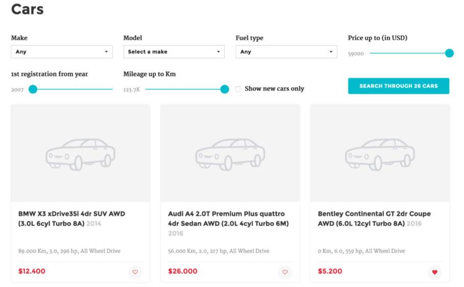 CarDojo Car Dealer Plugin