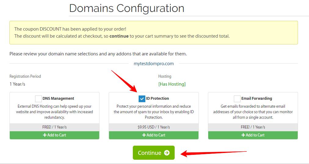 Domains Configuration