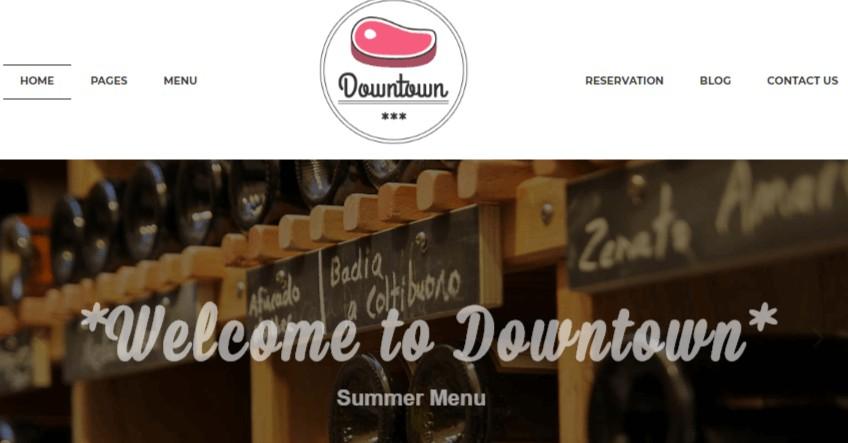 Downtown Restaurant theme