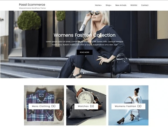 Pasal Ecommerce free theme