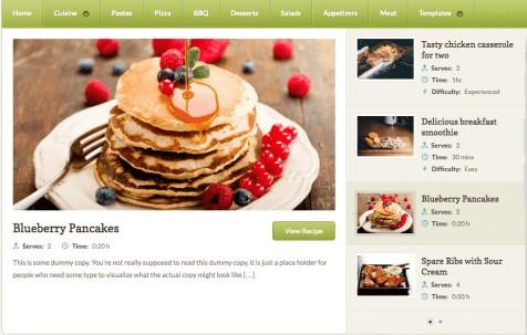 Petit WordPress cafe theme