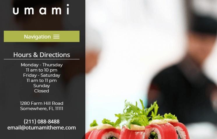 Umami restaurant theme