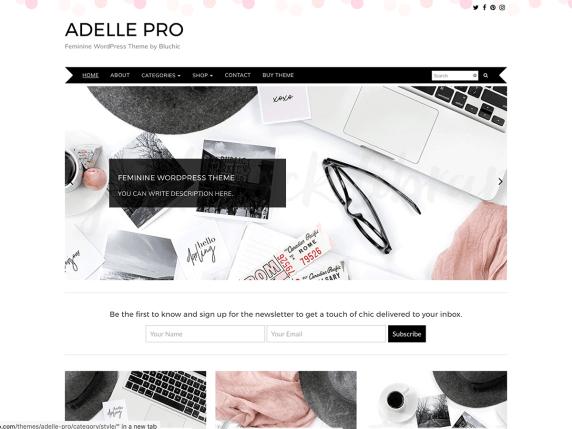 Adelle feminine WordPress theme