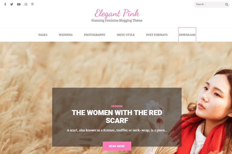 Elegant Pink theme