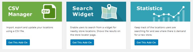 Store locator add-ons