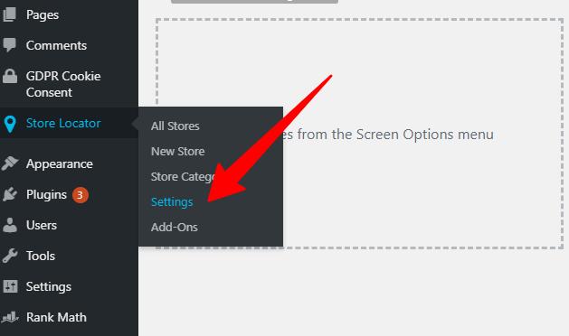 Store locator setting