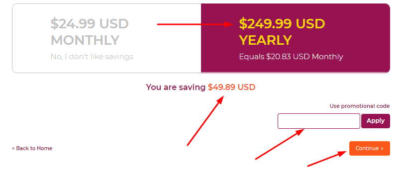 WPX Coupon Code & Total Price