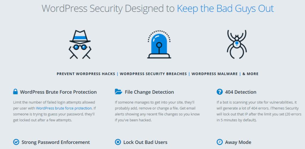 iThemes WordPress Security Designed