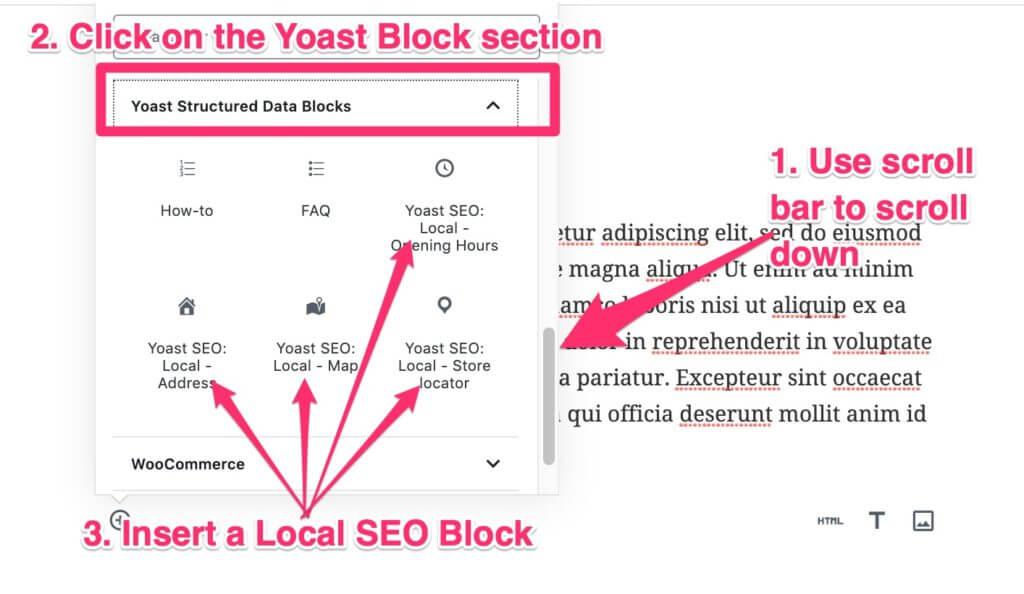 Yoast Local SEO configuration