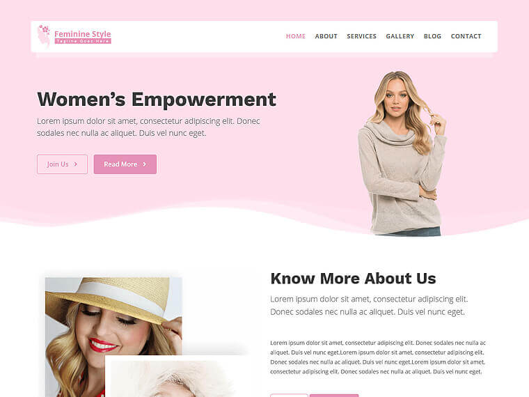 Feminine Style WordPress theme