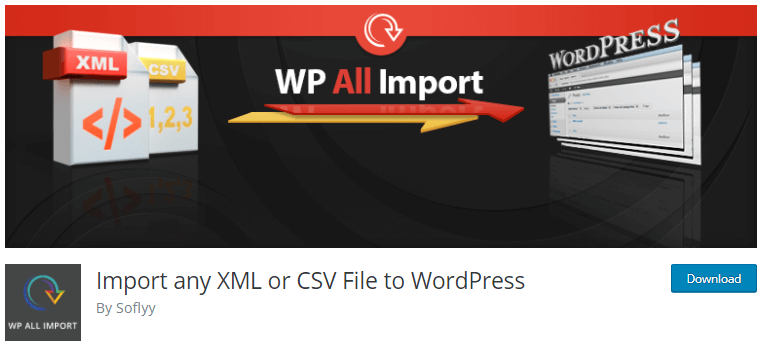 Import any XML or CSV File