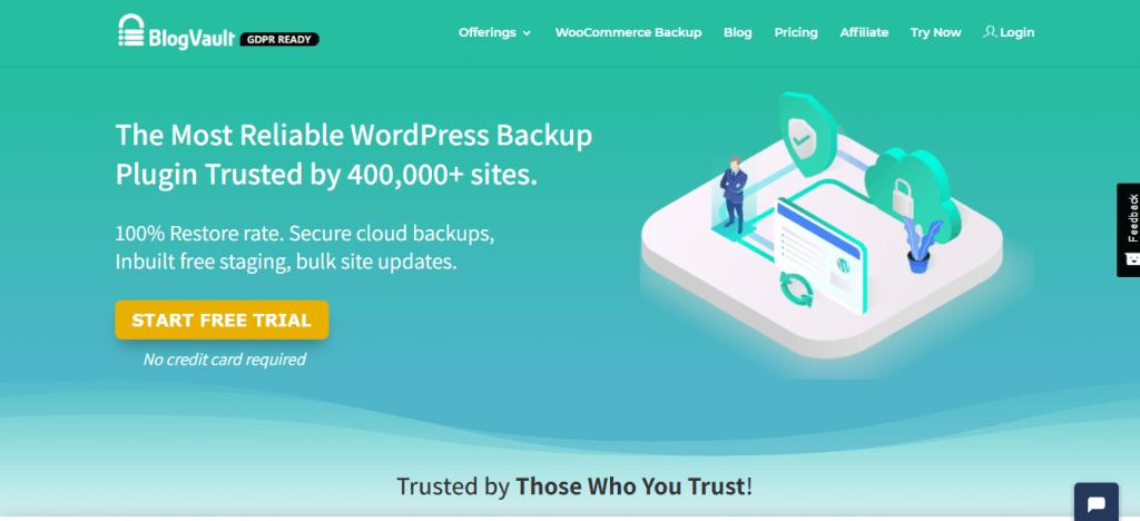 BlogVault backup solution