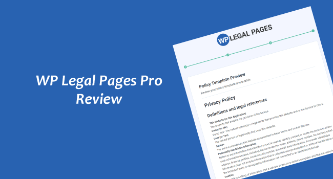 WP Legal Pages Pro Review (2021): #1 WordPress Privacy Policy Generator Plugin
