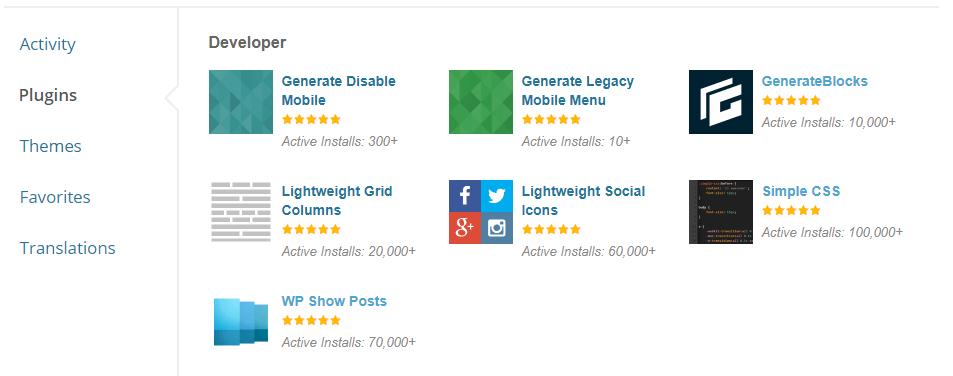 GeneratePress plugins