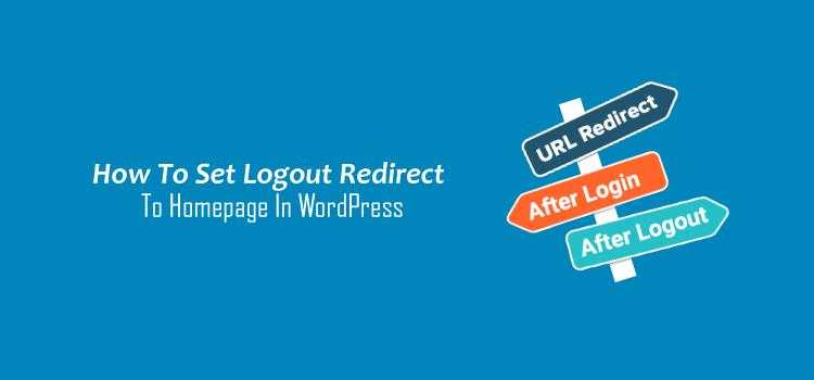 Logout Redirect