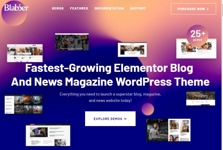 Blabber WordPress theme