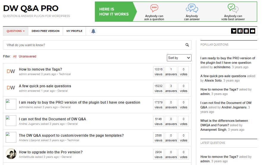 DW question-answer pro