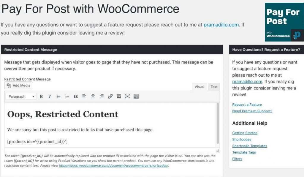 Pay Per Post With Woocommerce