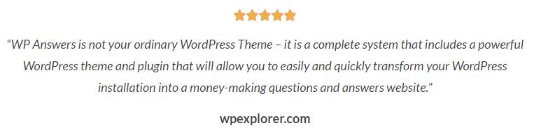 WP Answers testimonial