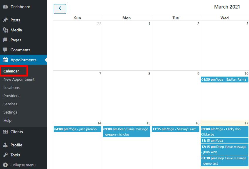 BirchPress Scheduler Calendar