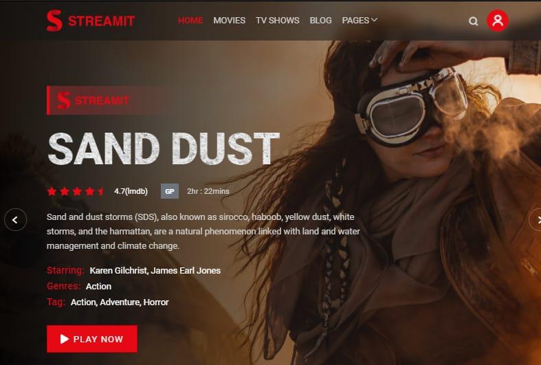 Streamit theme like Netflix