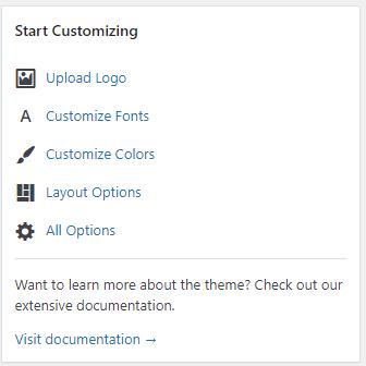 GeneratePress customizer