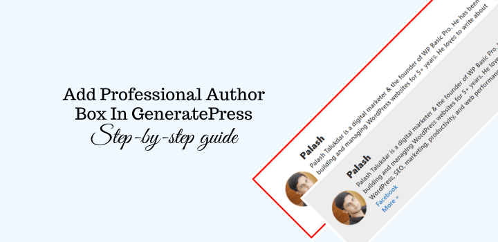 How to Add an Author Box In GeneratePress?