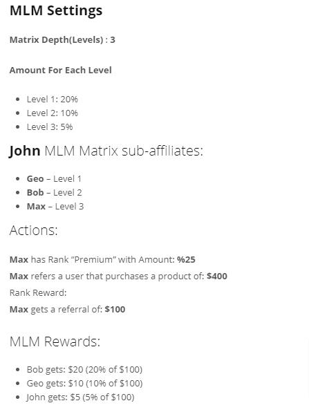 mlm settings