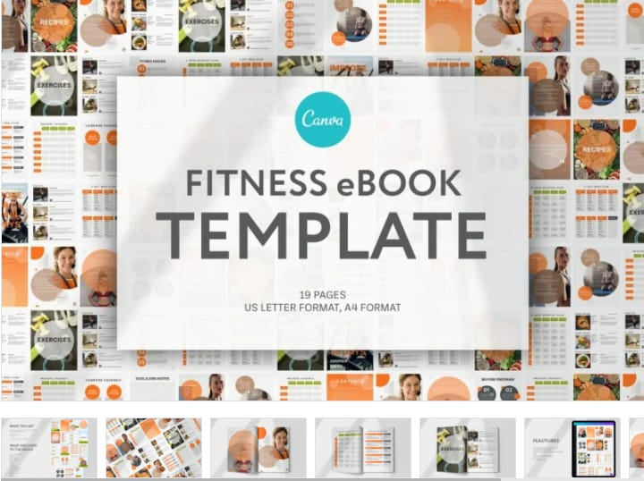 Fitness instructor magazine template