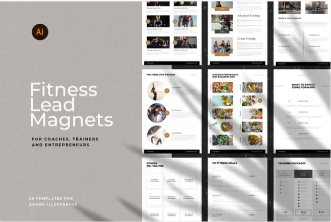 Fitness lead magnet templates