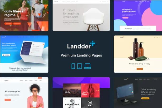 Landder lead generation HTML template