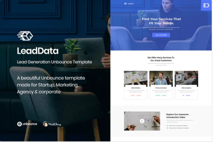 LeadData Unbounce Landing Page