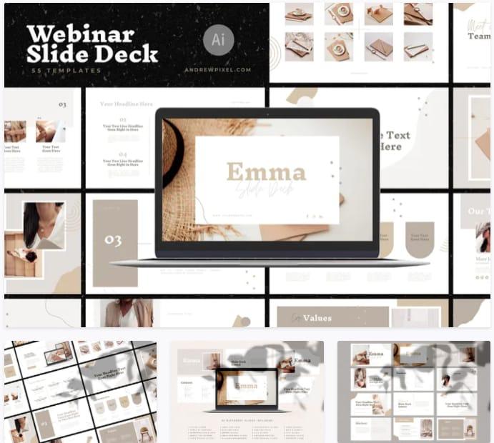 Webinar course slide deck