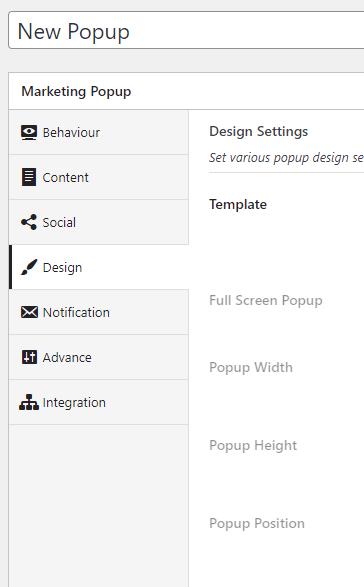 inboundwp popup settings