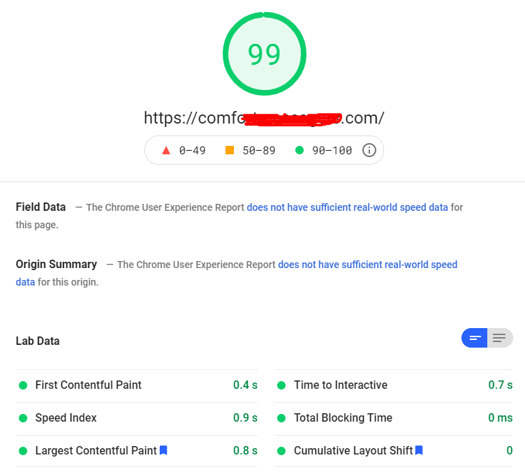 page speed on google insights